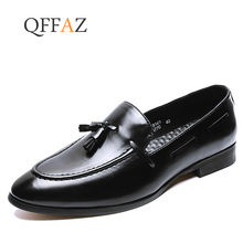4c09916e0 الايطالية الكلاسيكية اللباس حذاء رجالي جلد الرسمي الفاخرة العلامة التجارية شرابة  الذكور الأحذية مصمم مكتب الانزلاق على أحذية أكس.