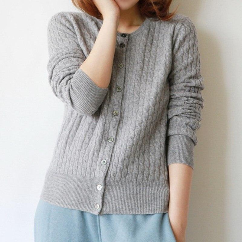 2016 Spring New Female Cashmere Sweater Cardigans Women Twist Sweaters Cardigan Korean Knitted Jacket Round Neck Slim Coat ZA229