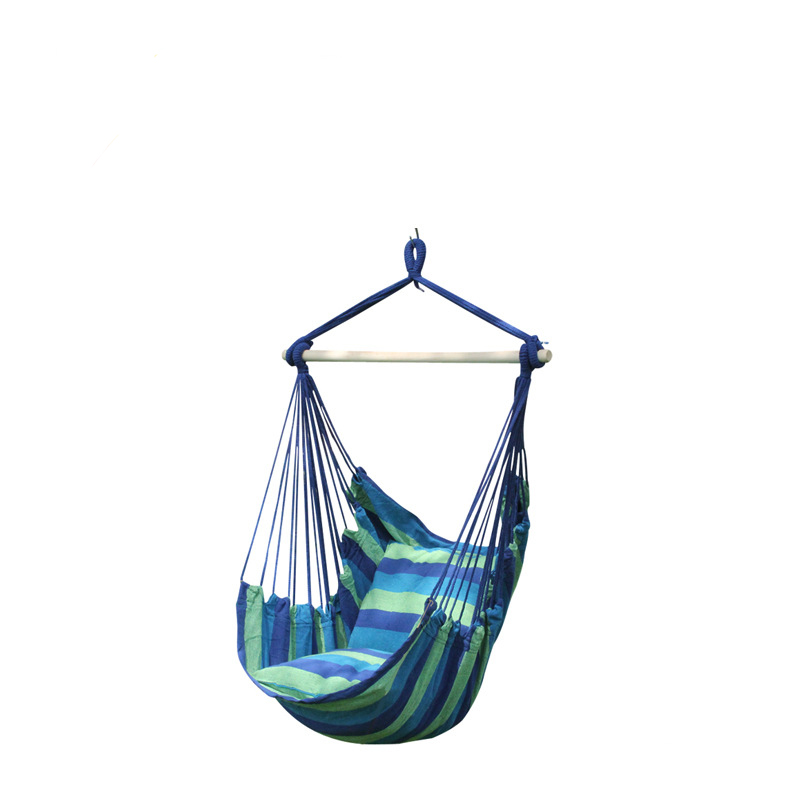 Garden balcony porch cotton rope canvas swings chair seat casual hammock swing Portable outdoor indoor stick swing seatGarden balcony porch cotton rope canvas swings chair seat casual hammock swing Portable outdoor indoor stick swing seat