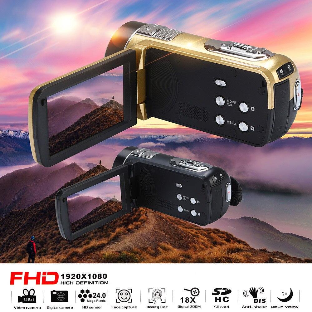 HIPERDEAL Mode 18X Numérique Zoom 24.0 MP Infrarouge vision nocturne Vidéo Caméscope FHD 1080 P De Poche appareil photo numérique DV Enregistreur