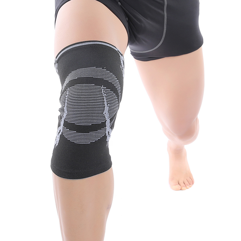 2296547af3 Active nylon four-way elastic compression knitted jacquard knee brace  protection support protector free shipping