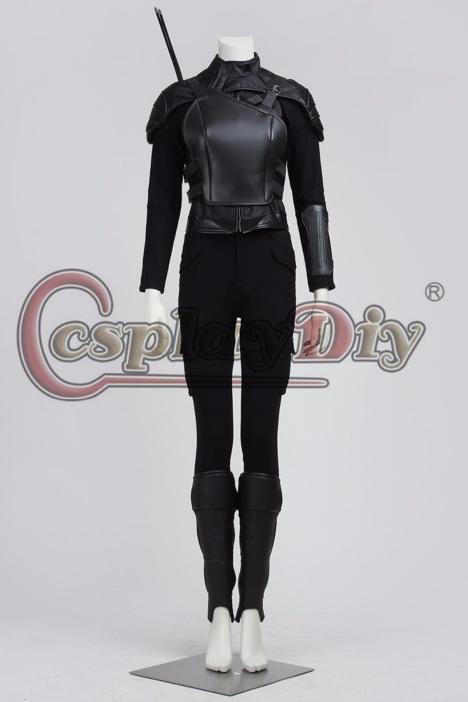 Cosplaydiy Custom Made The Hunger Games Katniss Everdeen Costume Adult Women's Superhero Outfit Cosplay Costume