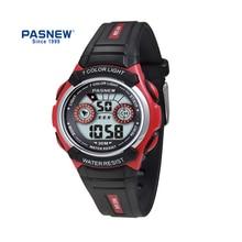 PASNEW children digital Watch Waterproof 30M 7-colour light outdoor sport Wrist Watch PSE-482