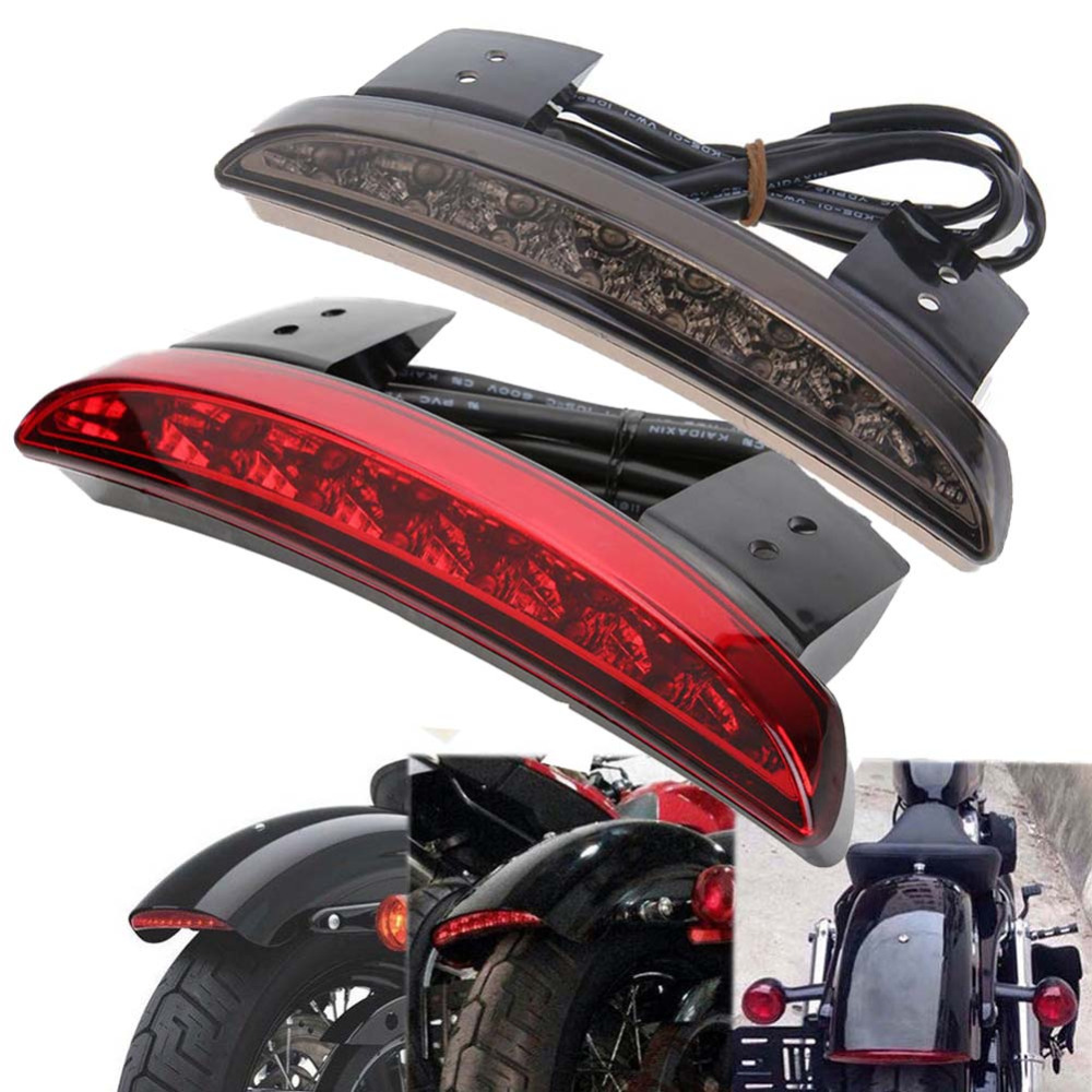 Bike Motorcycle Lights Rear Fender Edge Red LED Brake Tail Light Motocycle For Harley Touring Sportster XL 883 1200 Cafe Racer
