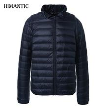 Winter Ente daunenjacke Männer feste fashion dünne ultraleichte daunenjacke Parka Plus Größe XXXL jaqueta masculina Mäntel