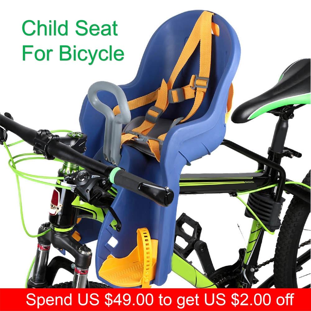Siège bébé pour vélo vélo enfants enfants avant bébé siège enfant siège pour vélo vélo porte-vélo avec main courante