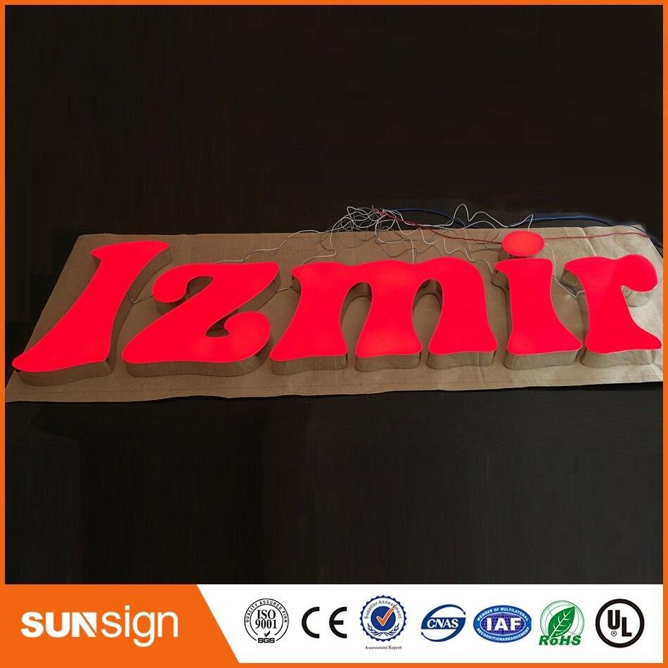 Acrylic Frontlit LED Letters Acrylic Advertising Letters Illuminated Sign Custom Led Sign Letters