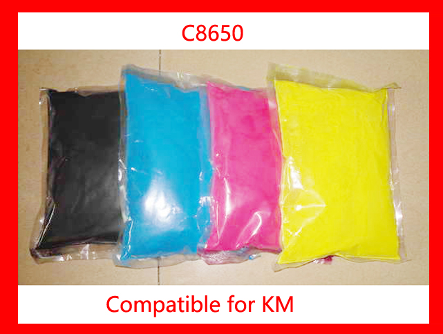 High quality compatible for Konica Minolta c8650/8650 color toner powder,4kg/lot,free shipping! compatible konica minolta magicolor 4750 c4750 color toner powder free shipping high quality