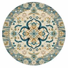INS Ethnic Retro Jacquard Mandala Round Mat Flower Nordic Marble Printed Carpet For Livingroom Kids Room Large Area Rug