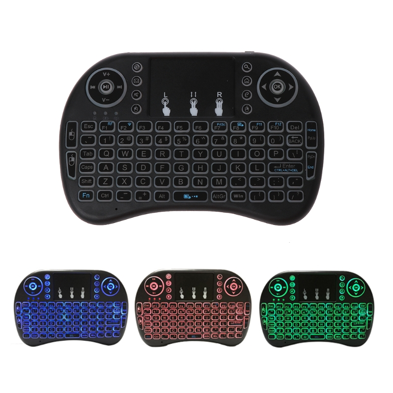 3 Color Backlit 2 4GHz Wireless i8 Keyboard Touchpad Fly Air Mouse For font b PC