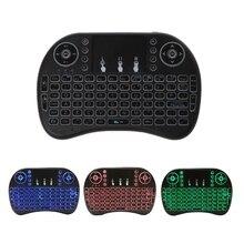 3 цвета светодиодной подсветкой 2,4 ГГц Беспроводной i8 сенсорная клавиатура Fly Air Мышь для ПК ТВ PS3