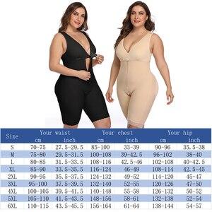 Image 2 - Moldeador de cuerpo firme para mujer, entrenador de cintura vientre, Control del Overbust, bodys adelgazantes, ropa interior, Body, corsé, bragas con cremallera