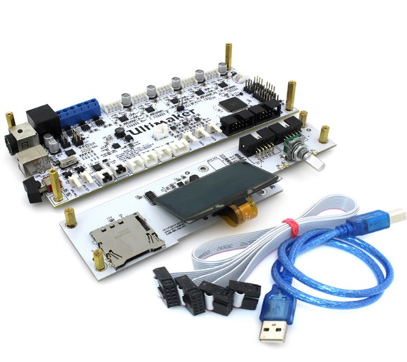 все цены на Ultimaker V2.1.4 mainboard with OLED screen kit UM2 smart controller board circuit mother board PCB electronic control panel онлайн