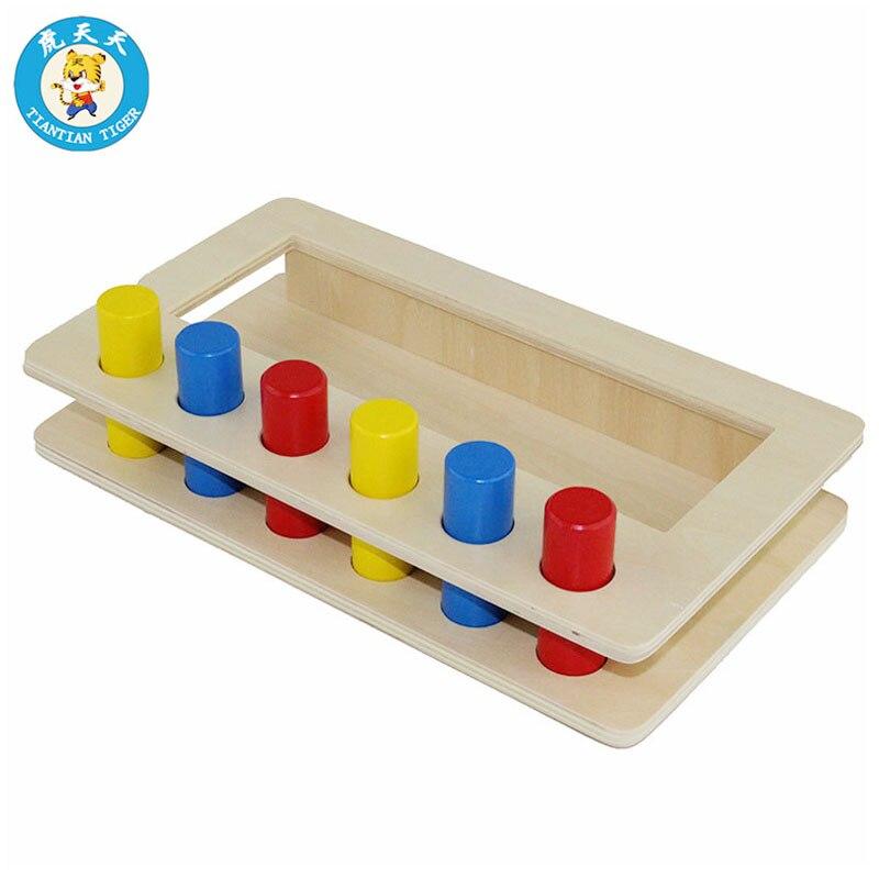 Bébé Montessori Enfants de Jouet Éducatif En Bois Jouets Imbucare Peg Boîte Avec Cylindres