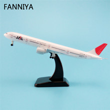 19cm Airplane Model Air JAL Japan Airlines B777 300ER Boeing 777 Airways Plane Model W Stand Wheels Landing Gear Aircraft