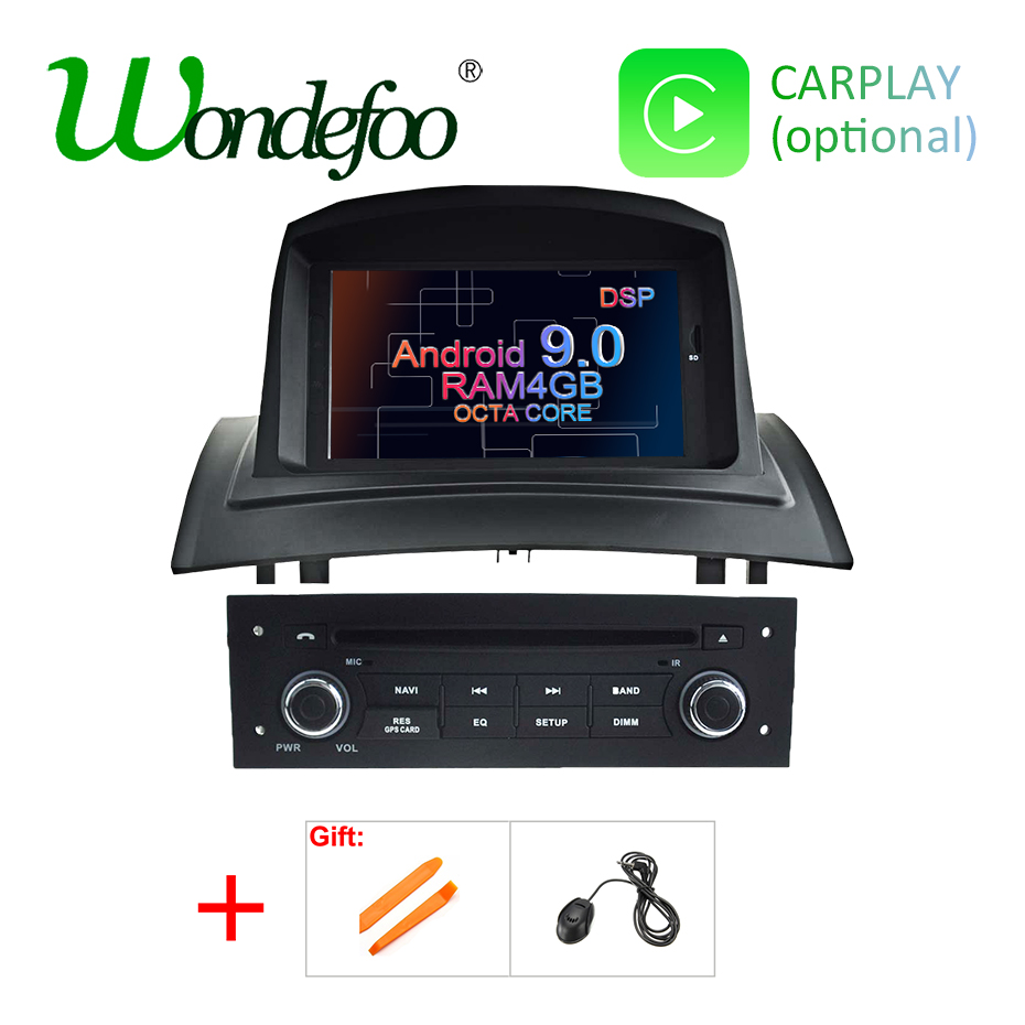 Android 9 0 DSP 4G RAM Car Multimedia DVD Player for RENAULT Megane 2 II Fluence