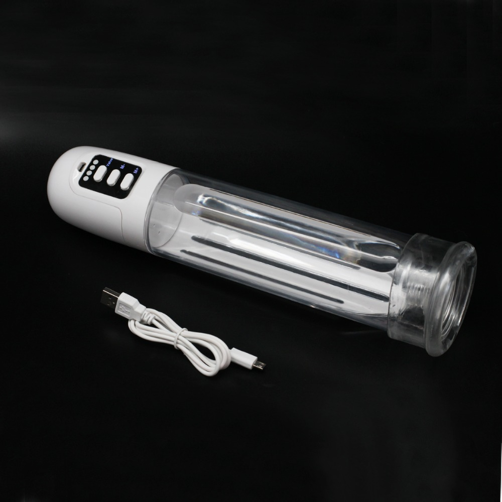 2016 New Electric Penis Pump ,USB charged electric enlargement Vacuum pump,electric Penis extender Sex products,Sex toys for man increase 60 100mm super long soft penis extender sleeve enlargement reusable condoms adult sex toys for men cock sleeve condom