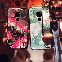flower strap tpu case for huawei mate 20 pro P30 P20 nova 3 3i honor 10 7A Y6 prime 2018 cover floral wristband hol