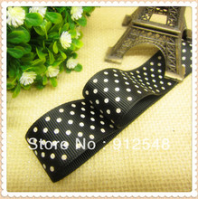 1» (25mm) free shipping 2013 new arrival white dot printed grosgrain ribbon Gift wrap ribbon 10 yards 10232