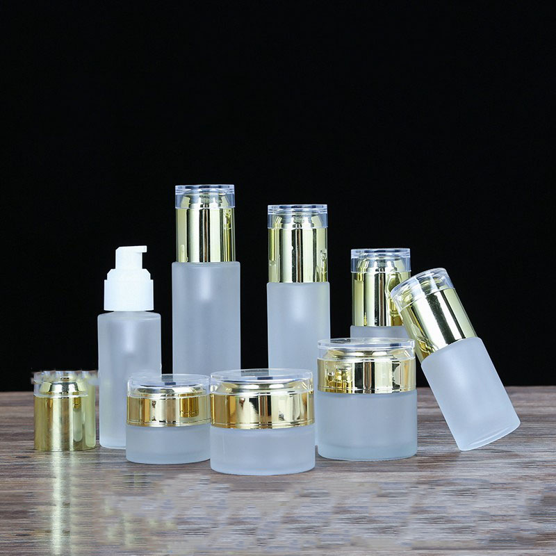 20g 30g 50g 20ml 30ml 40ml Cosmetic Containers Bottles Glass Empty Sample Vial Spray Bottle Essence Lotion Pump Cream Jar 60ml