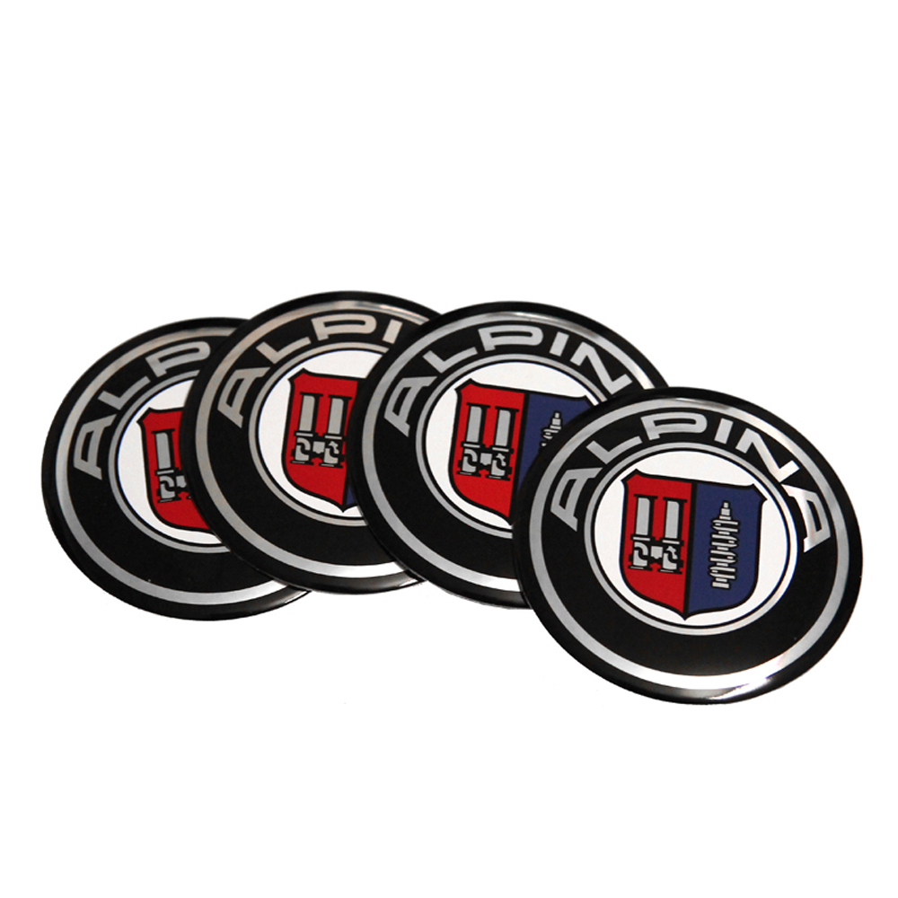Car Sticker Wheel Center Hub Caps Alpina Emblem For BMW Z3 Z4 X1 X3 X4 X5 X6 F20 F30 F10 GT 118I 220I E90 E34 E36 E46 E49 E30 image