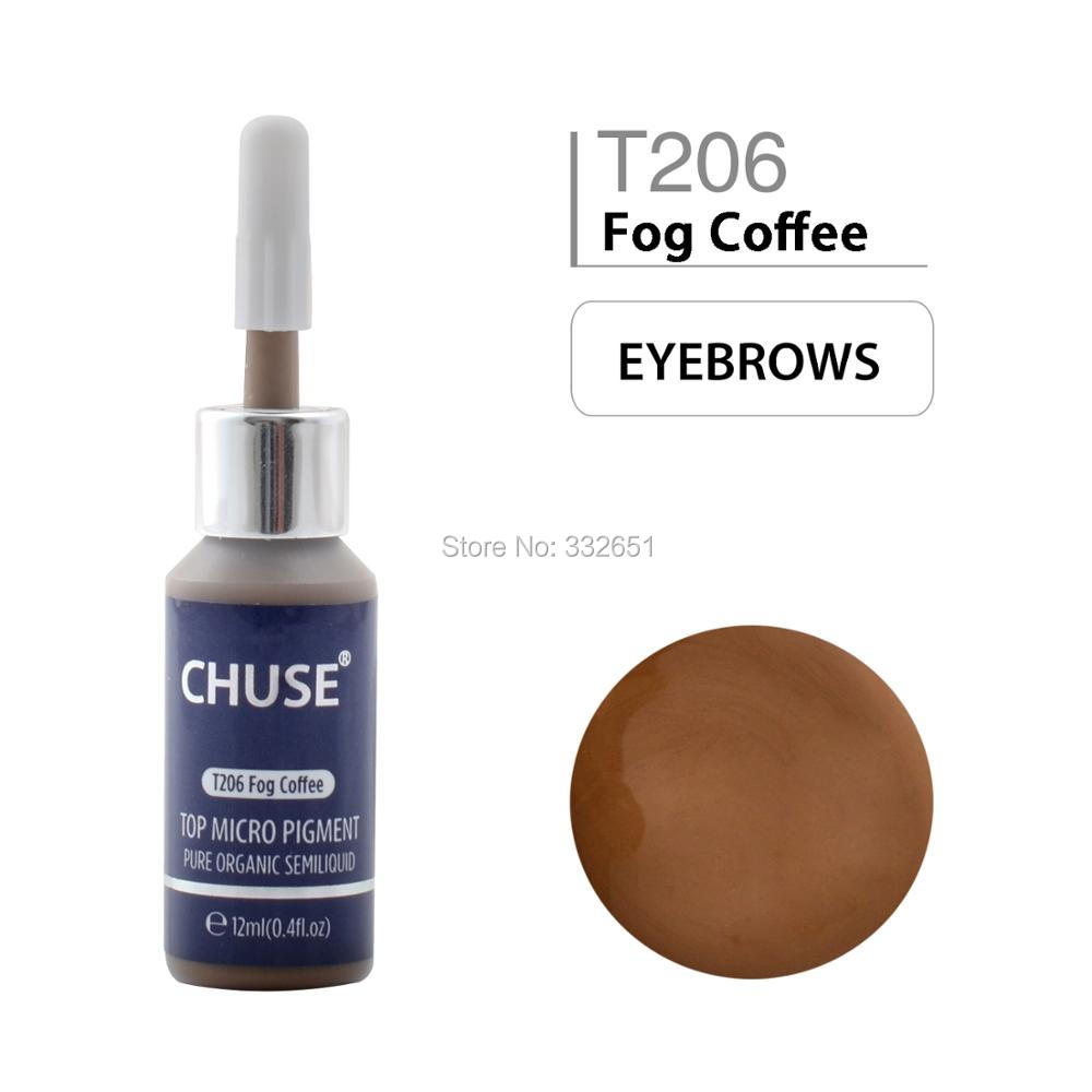 Microblading Micro Pigment Permanent Makeup Tattoo Ink Cosmetic Color Passed Sgs,dermatest 12ml 0.4fl.oz Chuse T206 Fog Coffee To Ensure A Like-New Appearance Indefinably Tattoo & Body Art