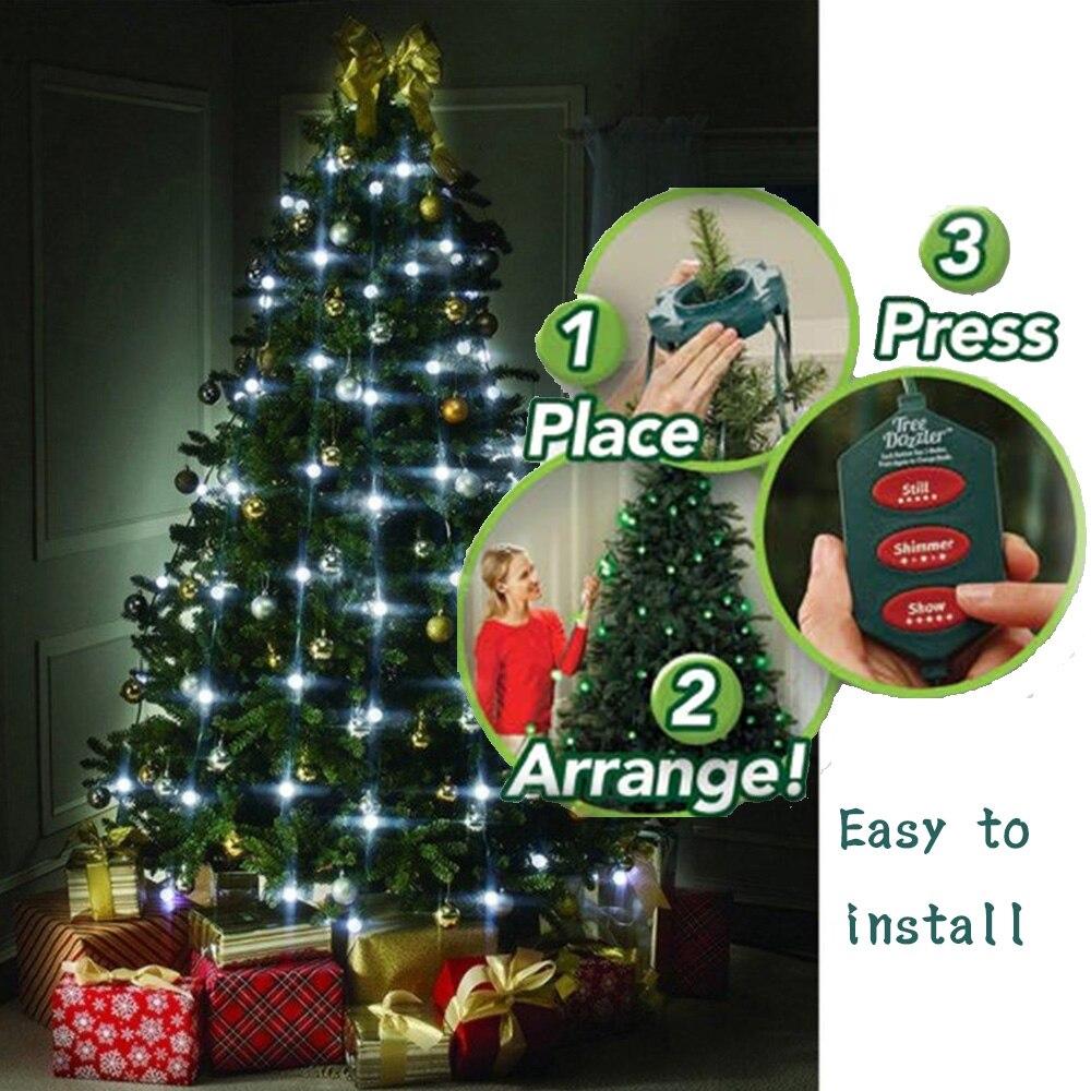 NOUVEAU Arbre De Noël LED Fée Twinkle jeu de Lumières 64 LED avec Contrôleur pour De Noël UE Plug top Qualité