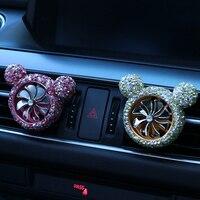car air outlet Car-encrusted air outlet Air Force No. 8 diamond-encrusted air outlet perfume clip Car creative decoration (2)