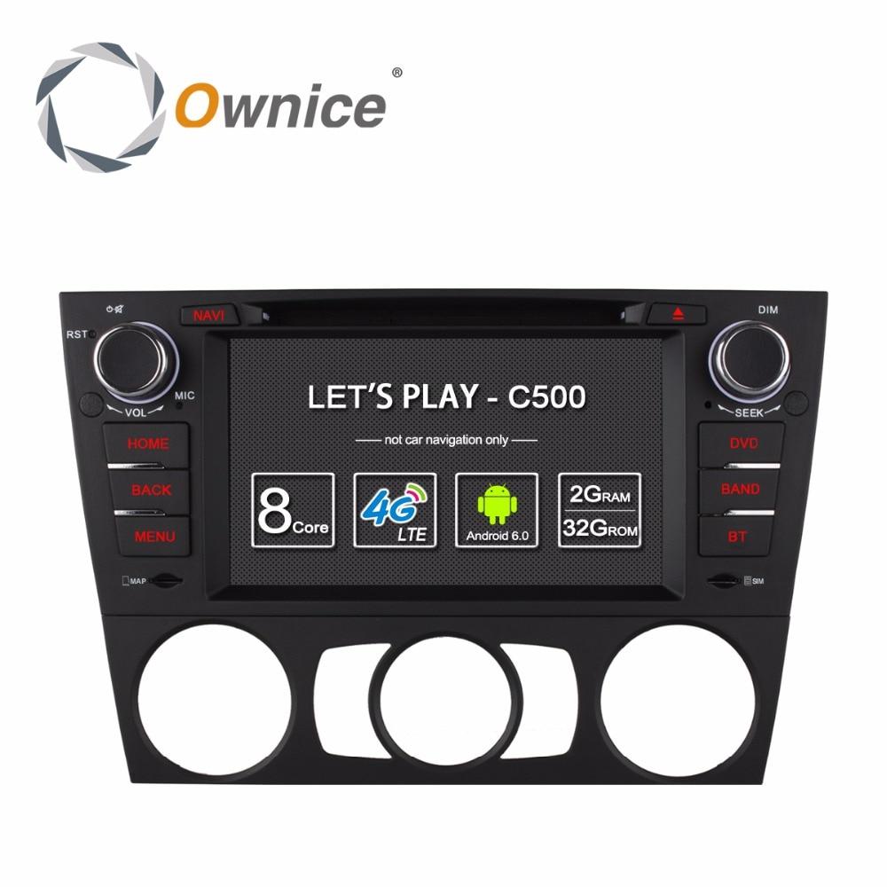 Ownice C500 4 г SIM LTE Android 6.0 Octa 8 ядра автомобильный DVD для <font><b>BMW</b></font> 3 серии <font><b>E90</b></font> E91 E92 e93 GPS Поддержка Wi-Fi Радио 2 ГБ Оперативная память 32 ГБ Встроенная память
