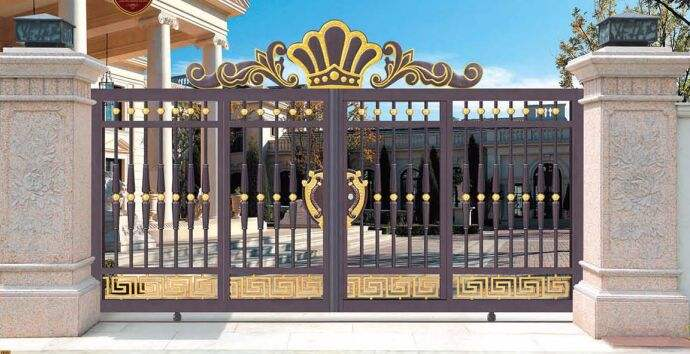Home aluminium gate design / steel sliding gate / Aluminum fence gate designs hc-ag28