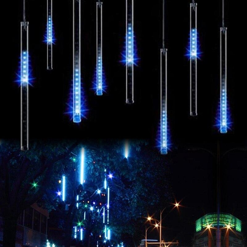 30CM 50CM 110V-230V Meteor Shower Rain Tube Guirlande Led Outdoor Garland Fairy Christmas Tree Festoon Lights Wedding Decoration цена