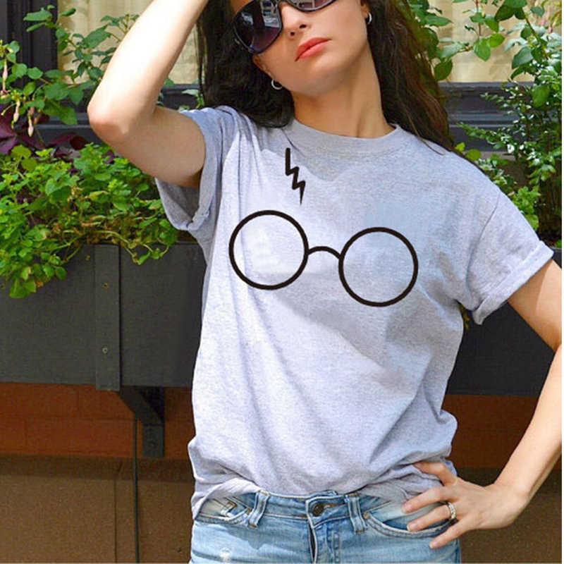 2019 Harajuku молния очки футболка размера плюс футболка высокое качество Трафаретный принт супер мягкие унисекс милые парные футболки