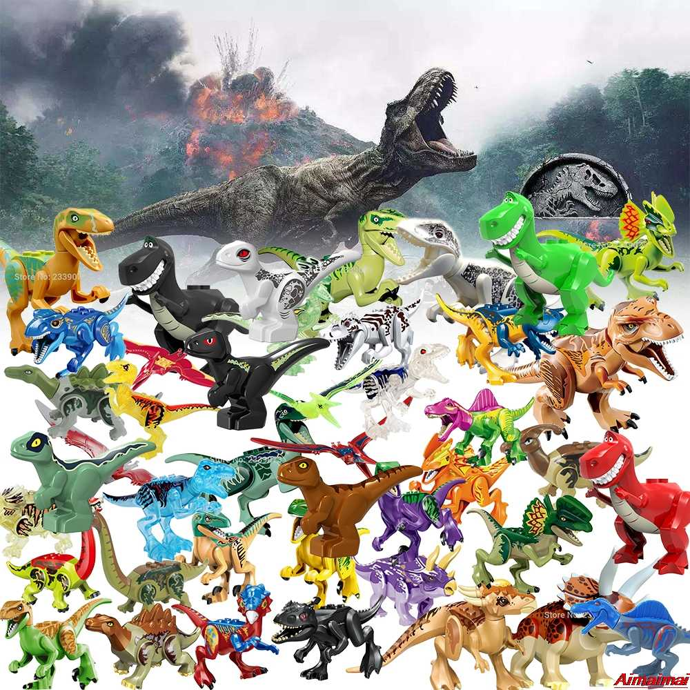 Jurassic World Park Dinosaur Animals Blocks KidsToys Building Bricks Children Birthday Gifts Legoings Dinosaurs Sets Big Figures