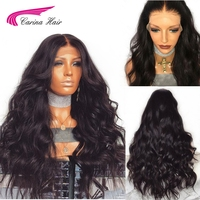 Carina Brazilian Remy Human Hair Body Wave Lace Front Human Hair Wigs With Baby Hair Around Cap Middle Part Pre Plucked Hairline