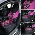 Чехол AUTOYOUTH на переднее сиденье автомобиля  универсальный  подходит для большинства сидений автомобиля с принтом зебры  автостайлинг  розов...