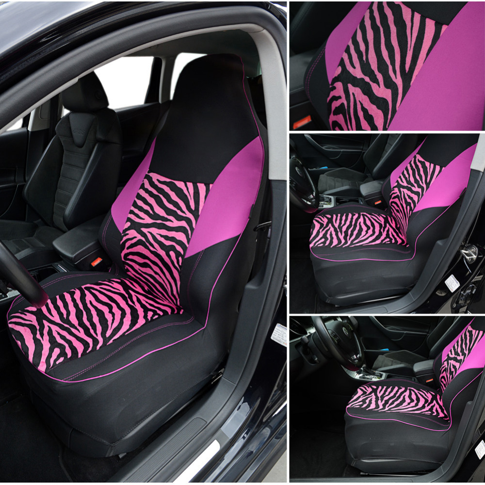 Stupendous Us 8 99 40 Off Autoyouth Front Car Seat Cover Universal Fit For Most Bucket Seat Zebra Print Car Styling Pink Car Accessories 1Pc In Automobiles Short Links Chair Design For Home Short Linksinfo
