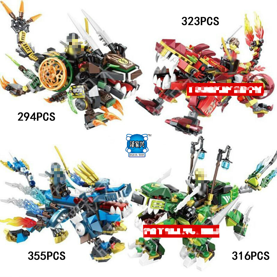 2018 Ninja Kirin Dragon Knights Building Block Cole Kai Llolyd Jay Figuresv Lepins Bricks Toys Collection for Children Gifts dr tong 80pcs lot dlp9069 ninja action figure cole kai jay lloyd nya skylor zane pythor chen building blocks figures ninja toys