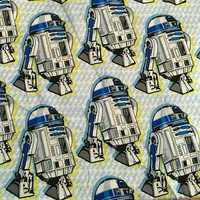 140cm Width Star Wars Robot Cotton Stain Fabric For Baby Boy Clothes Sewing Bedding Set Hometextile