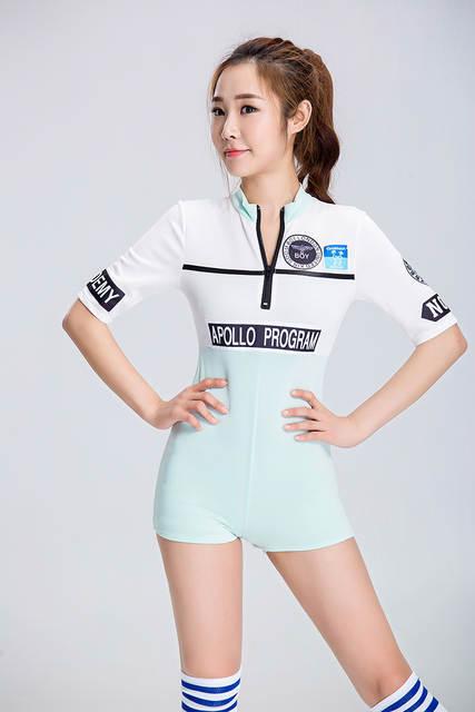 Placeholder Girls Cheer Leader Crop Tops Outfit Bodysuit Sexy Japanese Korean School Girls Costume Dress 2pcs