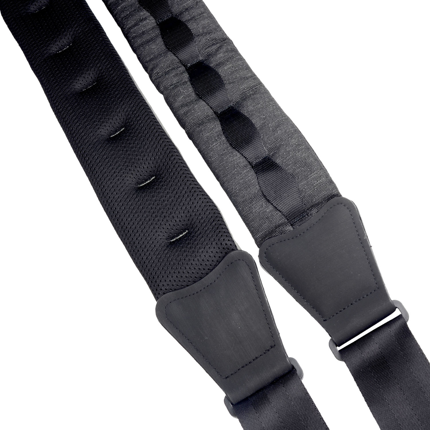 Amumu Nubuck Top-Grain Cattle Leather Guitar Strap Gray 3'' Wide and 45 - 55 adjustable length cropped wide sleeve top