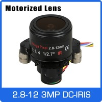 Motor 3Megapixel Varifocal CCTV Lens 2.8 12mm D14 Mount With DC IRIS and Motorized Zoom and Focus For 1080P/3MP AHD/IP Camera