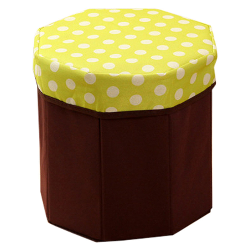 Hot! 1Pc Foldable Storage Foot Stool Children Pouffe Bedroom Home Chair Kids Seat Box ho ...