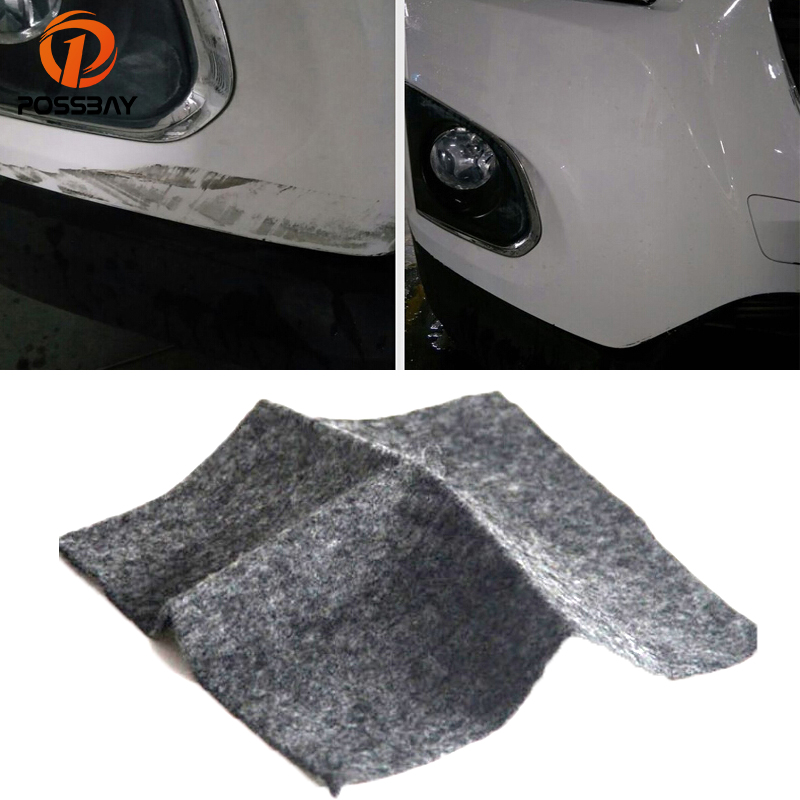 POSSBAY Universal Gray <font><b>Car</b></font> Scratch Polish Cloth for <font><b>Car</b></font> Motor Body <font><b>Light</b></font> Paint Scratches Remover Scuffs on Surface Repair image