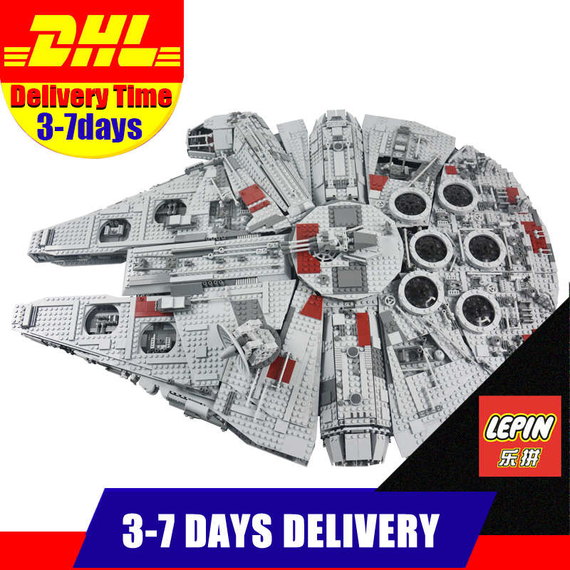 LEPIN 05033 5265 PCS MOC Star UCS War Ultimate Collector's Millennium Falcon Building Block Set Bricks Kits Compatible 10179 lepin 05037 star slave ucs i slave model no 1 2067pcs building block bricks war toys kits compatible with 75060 children gifts