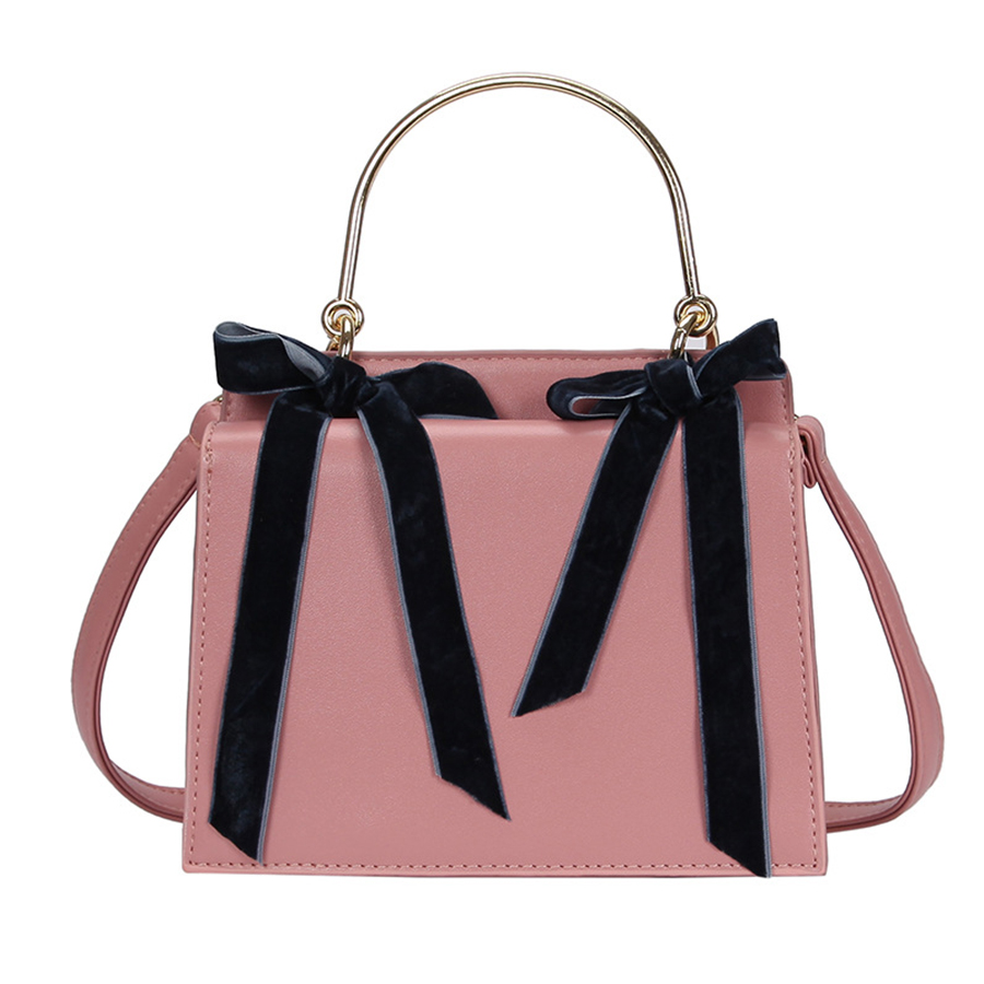 883d960222 Detail Feedback Questions about Fashion PU Leather Bow Double sided Handbag  Luxury Sweet Women Shoulder Messenger Bag Designer Small Square Accordion  ...