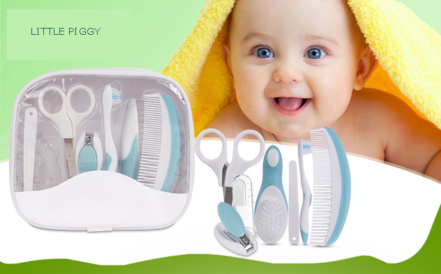 7pcs Baby Grooming health care manicure set baby brush and comb set newborn health safety scissors medicine nail gromming kit