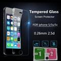 9 h templado protector de pantalla de cristal para iphone 4 4s 5 iphon7 5S 5C 6 S 6 Plus Ultra Thin Casos Cubierta Del Teléfono Película Protectora