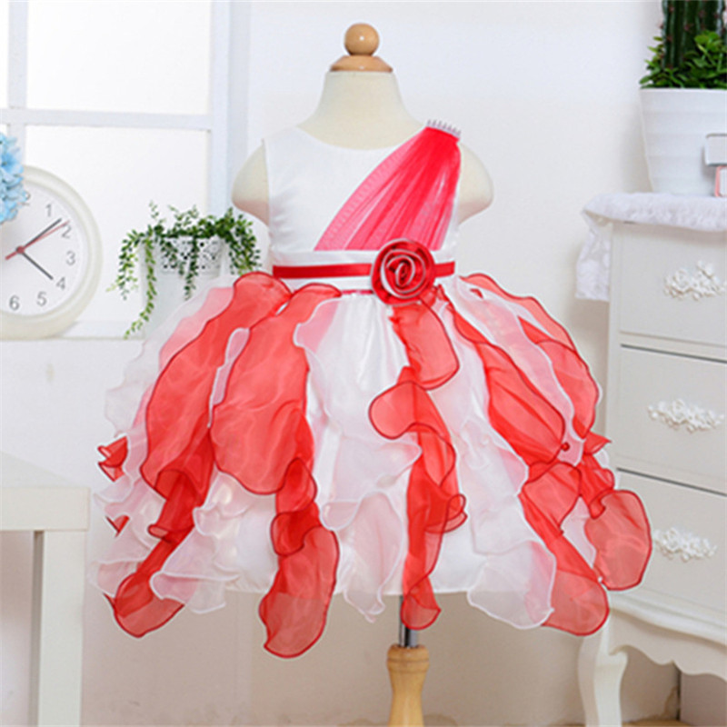 New Fashion Flower Girl Dress Party Birthday wedding princess baby Girls Clothes Children Kids Girl Dresses E657 new 2016 fshion flower girl dress kids clothing party wedding birthday girls dresses baby girl white pink rose dress