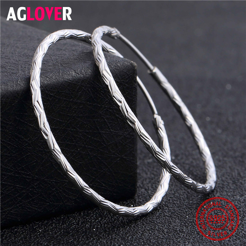 2019 New Arrivals 925 Sterling Silver Circle Earrings 100% Sterling Silver Big Hoop Earrings Coil Women Earrings Fine Jewelry2019 New Arrivals 925 Sterling Silver Circle Earrings 100% Sterling Silver Big Hoop Earrings Coil Women Earrings Fine Jewelry