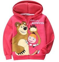 Retail Baby Girls Cartoon Warm Suits Long Sleeves Hoody Jacket+ Pants For 6-24Months Kids Fall Winter Red Hoddies Clothing Sets
